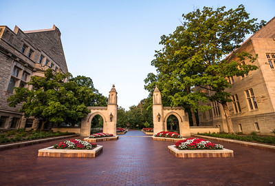 IU Sample Gates Summer Golden Evening