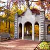 Rose Well House Indiana University Fall Scene Painterly