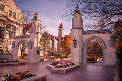 Indiana University Sample Gates Morning Red Hue