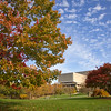 Fall Scene of Wells Library at Indiana University