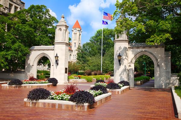 sample gates on the campus of indiana university bloomington
