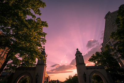 Indiana University Sample Gates Low Angle Sunset