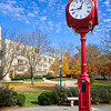 Indiana University Clock Outside of Woodburn Hall on a Sunny Day - Vertical