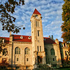 Indiana University Student Building Clock Tower Fall Day