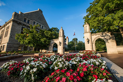 IU Sample Gates Flowers Vibrant Evening