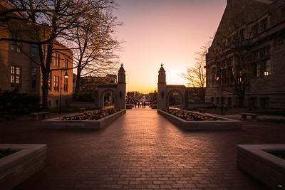 Sunset at the Sample Gates - Indiana University Spring 2018