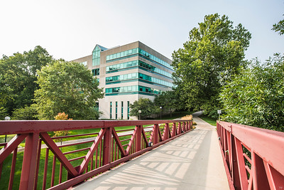 Indiana University South Bend Schurz Library with Bridge