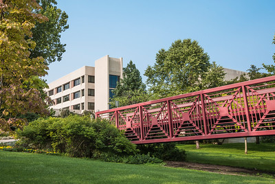 Northside Hall at Indiana University South Bend with Bridge