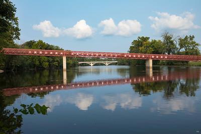 Indiana University South Bend St Joseph River Bridge