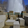 "Water fountain with multiple concrete columns of varying heights and bright blue sky in the background.<br /> <br /> bluemoon1236, smugmug <a href=""http://bluemoon1236.smugmug.com/Indiana-sights"">http://bluemoon1236.smugmug.com/Indiana-sights</a> ,Bluemoon Fine Photography"