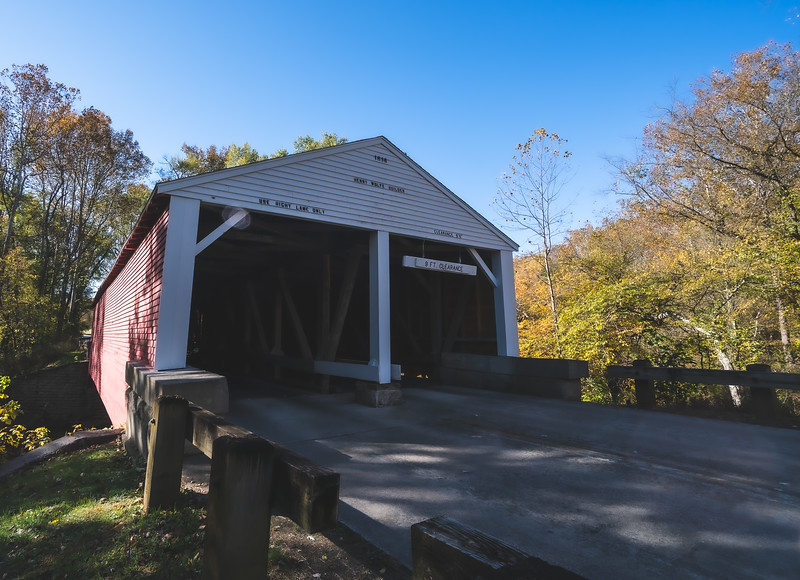 Ramp Creek Covered Bridge in Brown County Indiana