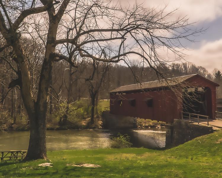 Cataract Falls Covered Bridge in Owen County Indiana