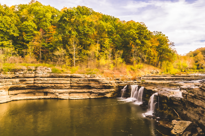 Cataract Falls State Recreational Area in Spencer Indiana