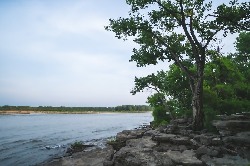 Falls of Ohio State Park in Clarksville Indiana