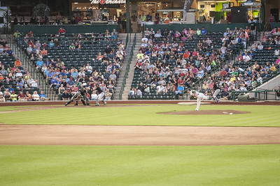 A Tincaps minor league baseball game at Parkview Field in Fort Wayne, IN on Wednesday, August 12, 2015. Copyright 2015 Jason Barnette