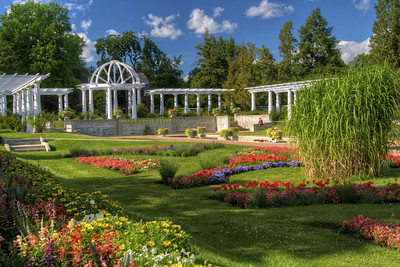 Beautiful Garden At Lakeside Park In Fort Wayne, IN On Wednesday, August 12,