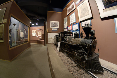 An exhibit about trains at The History Center in Fort Wayne, IN on Wednesday, August 12, 2015. Copyright 2015 Jason Barnette
