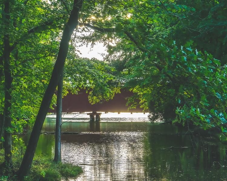Irishmen Covered Bridge in Vigo County Indiana