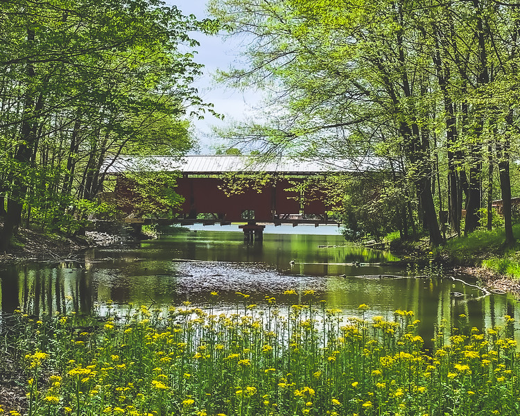 Irishmen Covered Bridge (under restoration) in Vigo County Indiana