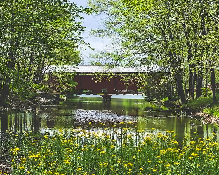Irishmen Covered Bridge (under restoration) in Vigo County Indiana