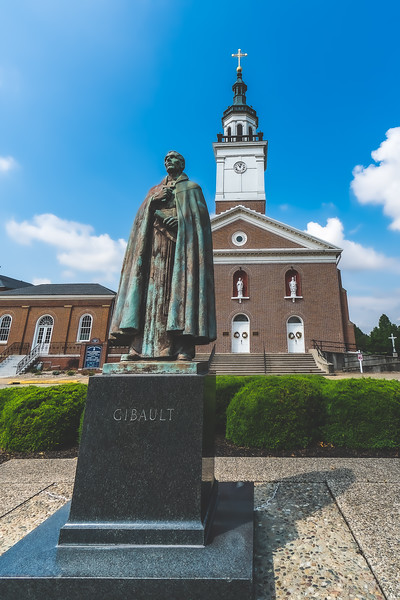 Statue of Father Pierre Gibault in Vincennes Indiana