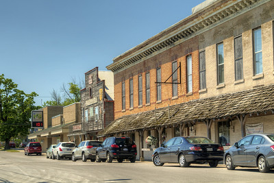View looking down Main Street in Grabill, IN on Thursday, August 13, 2015. Copyright 2015 Jason Barnette