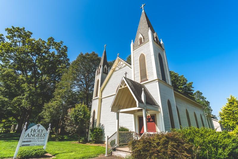 Holy Angels Catholic Church in New Harmony Indiana