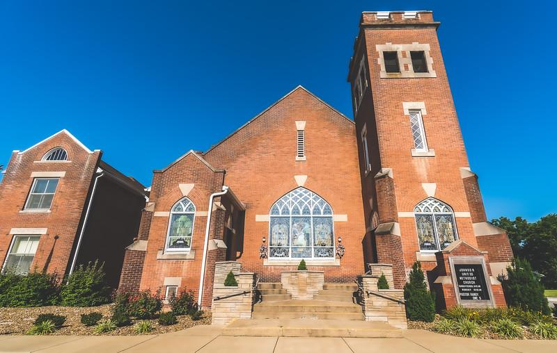 Johnson United Methodist Church in New Harmony Indiana