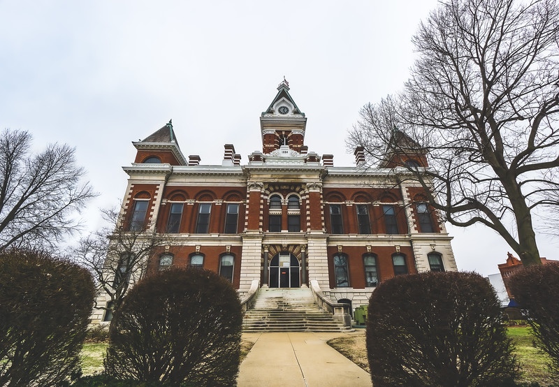Gibson County Indiana Courthouse in Princeton