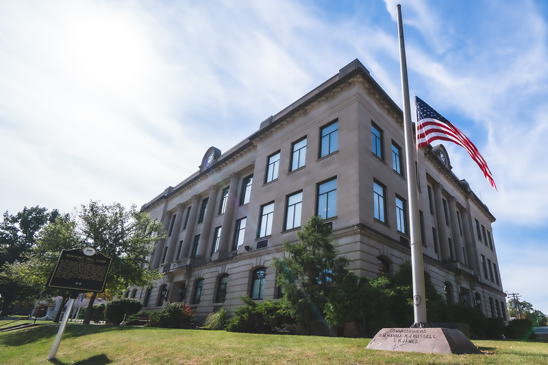 Vermillion County Indiana Courthouse in Newport