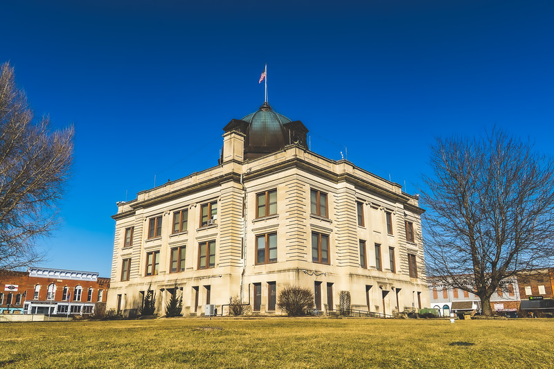 Owen County Indiana Courthouse in Spencer