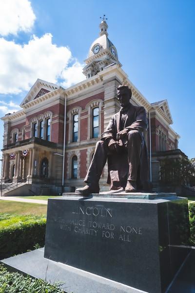 Wabash County Indiana Courthouse in Wabash