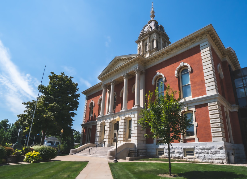Marshall County Indiana Courthouse in Plymouth