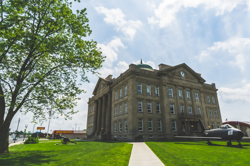Clay County Indiana Courthouse in Brazil