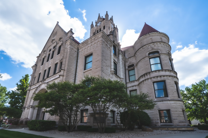 Hancock County Indiana Courthouse in Greenfield