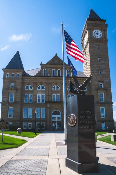 Tipton County Indiana Courthouse in Tipton
