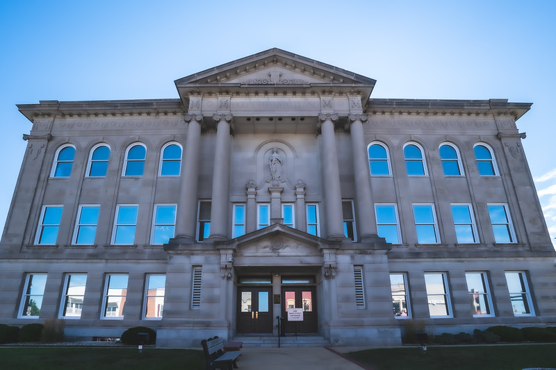 Boone County Indiana Courthouse in Lebanon
