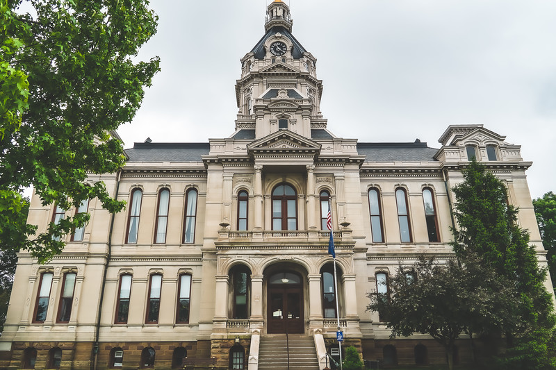 Parke County Indiana Courthouse in Rockville