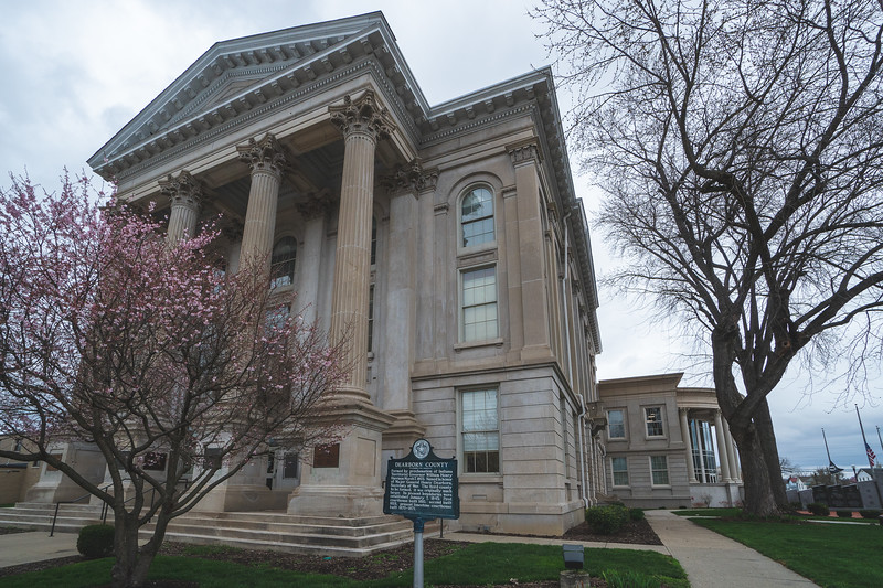 Dearborn County Indiana Courthouse in Lawrenceburg