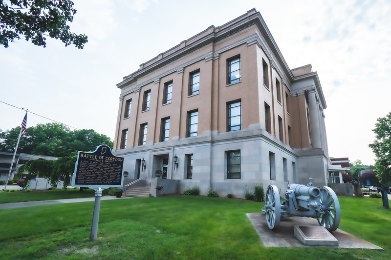 Harrison County Indiana Courthouse in Corydon