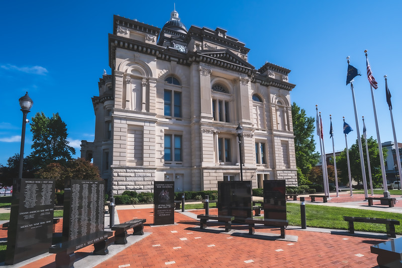 Clinton County Indiana Courthouse in Frankfort