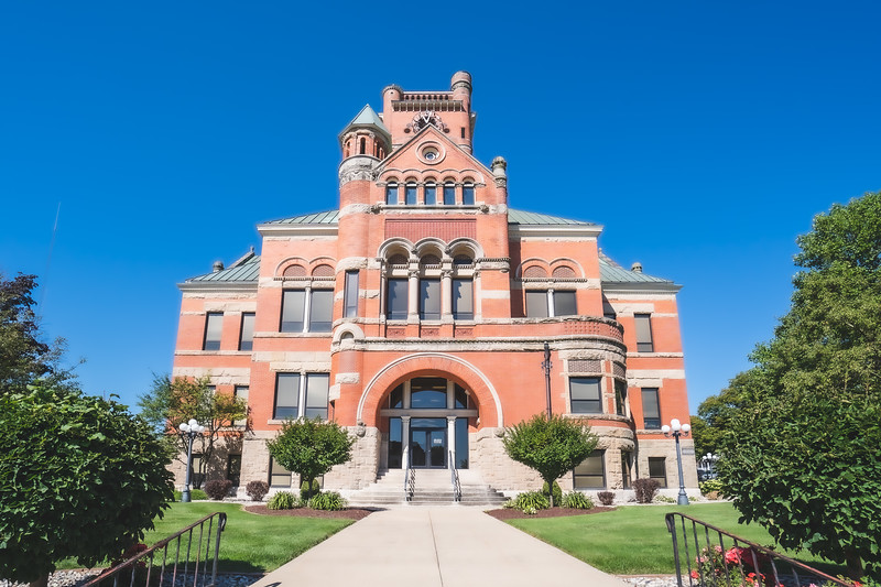 Noble County Indiana Courthouse in Albion