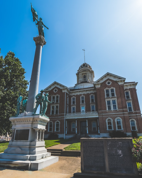 Posey County Indiana Courthouse in Mount Vernon
