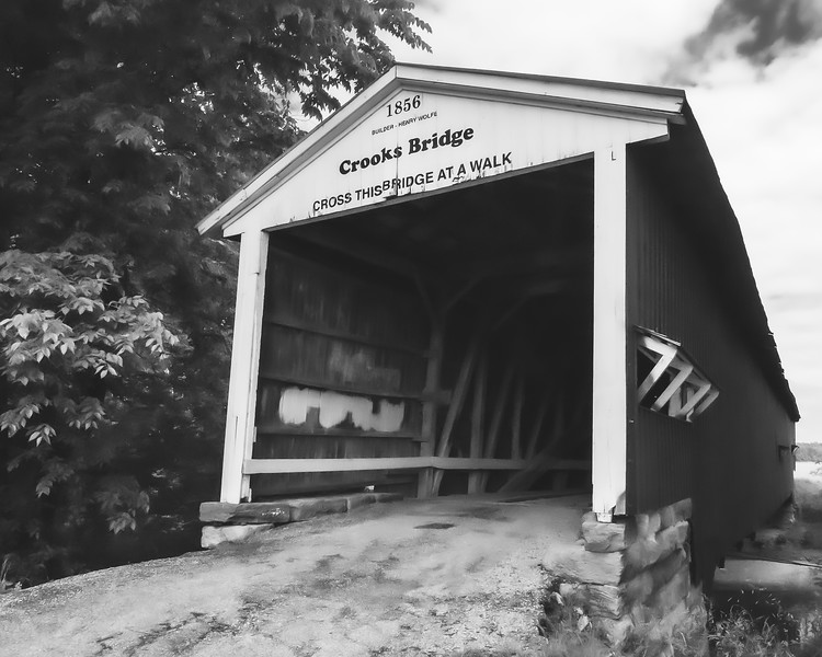 Crooks Covered Bridge in Parke County Indiana