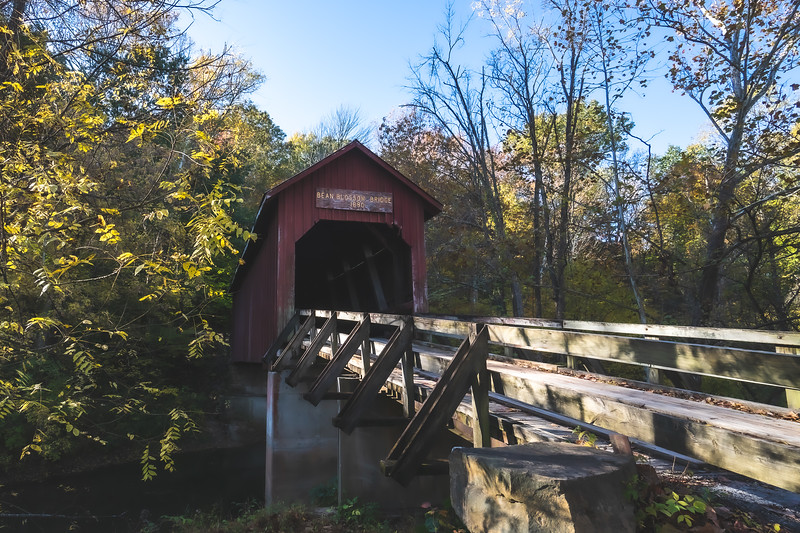 Bean Blossom Covered Bridge in Brown County Indiana