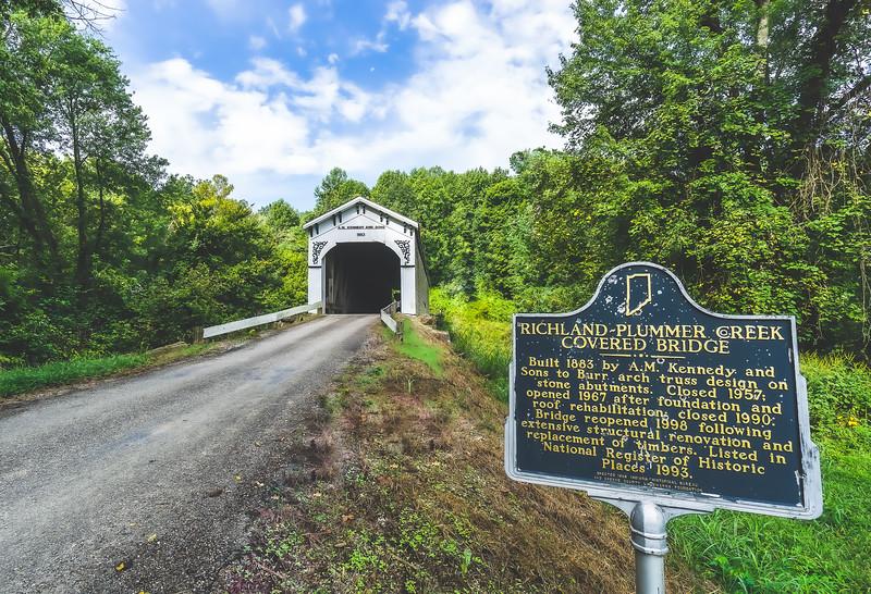Richland-Plummer Creek Covered Bridge in Greene County Indiana