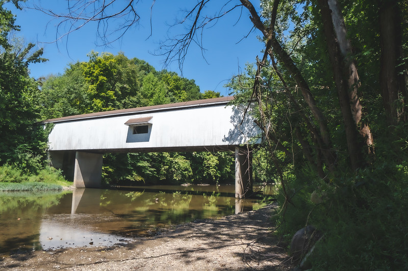 Adams Mill Covered Bridge in Carroll County Indiana