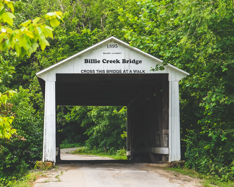 Billie Creek Covered Bridge in Parke County Indiana