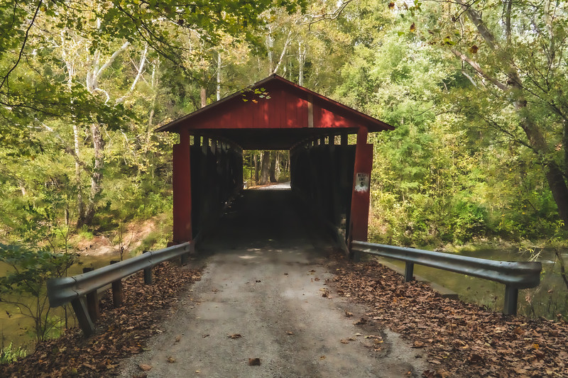 Rolling Stone Covered Bridge in Putnam County Indiana