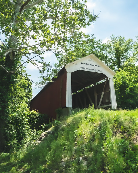 Bowsher Ford Covered Bridge in Parke County Indiana